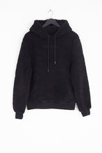 NIGHT ADDICT SHERPA BORG HOODIE - BLACK