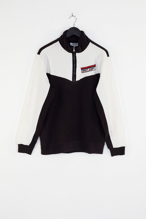 MONOCHROME PANEL OVERHEAD TRACKSUIT TOP