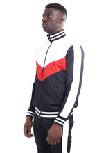 NIGHT ADDICT TRACK TOP - WHITE, RED AND BLACK PANELS