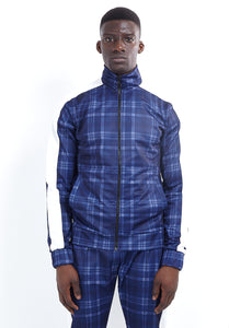 TECHNICAL TRACK TOP - LARGE BLUE CHECK