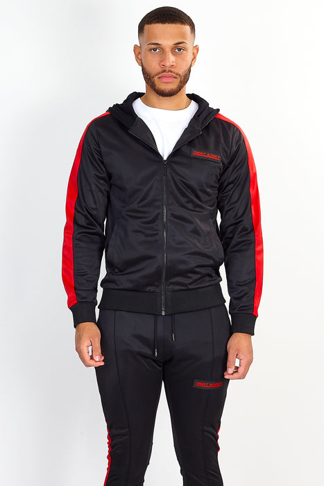 NIGHT ADDICT TECHNICAL TRACK TOP – BLACK WITH RED