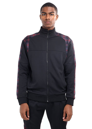 TECHNICAL TRACK TOP - RED CHECK PANEL