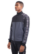 NIGHT ADDICT TECHNICAL TRACK TOP - GREY CHECK PANEL