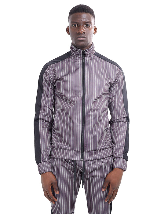 NIGHT ADDICT TECHNICAL TRACK TOP - GREY PINSTRIPE