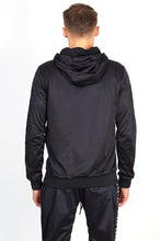 NIGHT ADDICT BLACK SIDE TAPE PINTUCK HOODIE BACK