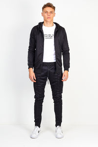 NIGHT ADDICT BLACK SIDE TAPE PINTUCK TRACKSUIT