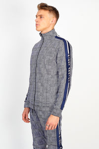 PRINCE OF WALES SIDE TAPE ZIP THROUGH TOP