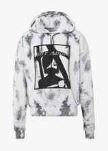 NIGHT ADDICT GREY DIAMONTE DETAIL TIE DYE HOODIE INVISIBLE MANNEQUIN