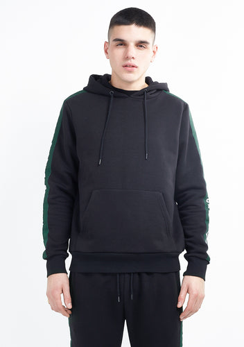 TRACK TOP - BLACK WITH GREEN