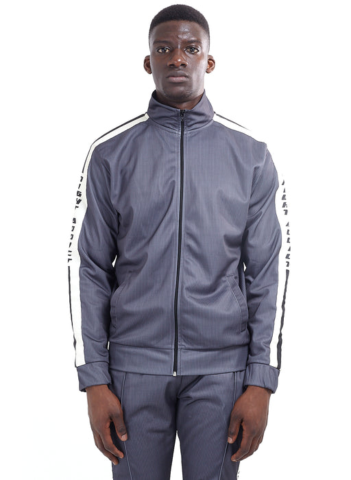 NIGHT ADDICT TECHNICAL TRACK TOP - CHALK STRIPE