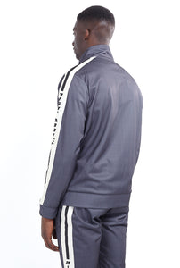 TECHNICAL TRACK TOP - CHALK STRIPE