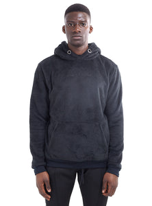 SUPERSOFT BORG HOODIE - BLACK