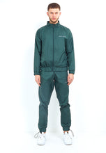 NIGHT ADDICT NYLON LOGO ZIP THROUGH - GREEN