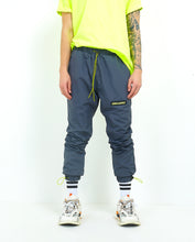 NIGHT ADDICT GREY NYLON TRACK BOTTOMS FRONT