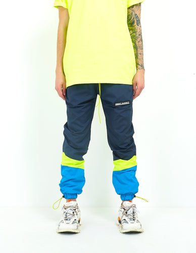 NIGHT ADDICT NYLON COLOUR BLOCK TRACK BOTTOMS FRONT