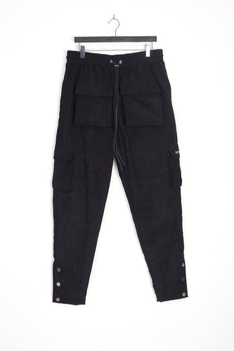 CORD TROUSERS – BLACK