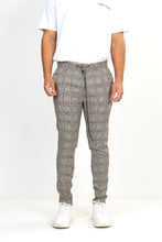 DRAW-CORD TROUSERS – TAN CHECK