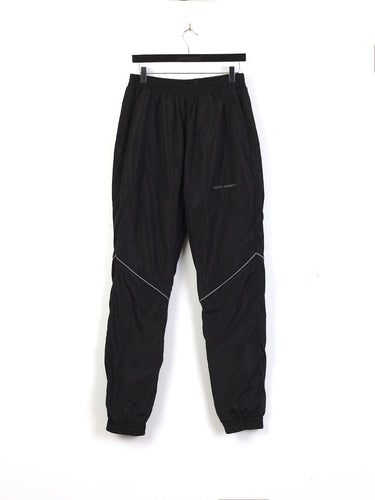 REFLECTIVE PIPING NYLON TRACK PANTS - BLACK