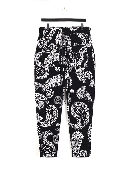 PAISLEY CORD TROUSERS – BLACK