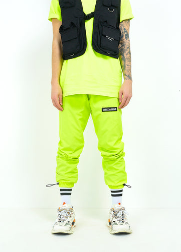 NIGHT ADDICT NEON TRACK BOTTOMS - YELLOW