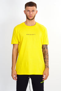NIGHT ADDICT YELLOW 'CHANGES' T-SHIRT FRONT