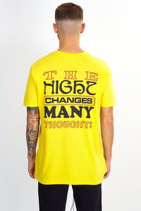 NIGHT ADDICT YELLOW 'CHANGES' T-SHIRT BACK