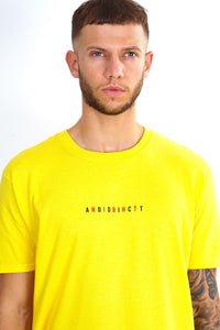 NIGHT ADDICT YELLOW 'CHANGES' T-SHIRT DETAIL
