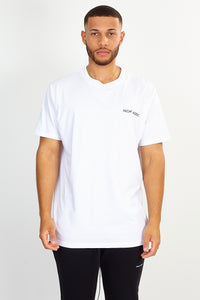 NIGHT ADDICT WHITE BACK 'SPRING' PRINT TEE FRONT