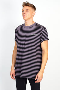 STRIPE TEE – BLACK AND GREY