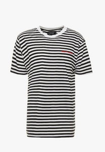 NIGHT ADDICT STRIPE TEE – BLACK AND WHITE