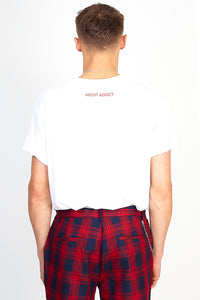 NIGHT ADDICT 'LONDON' TEE - WHITE