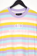NIGHT ADDICT RAINBOW PASTEL STRIPE TEE