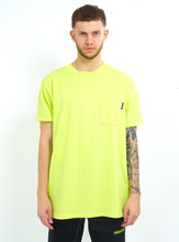 NEON YELLOW POCKET TEE