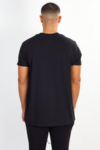 NIGHT ADDICT BLACK GLITTER PRINT TEE BACK