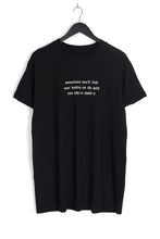 NIGHT ADDICT OVERSIZED GOTH TEXT TEE