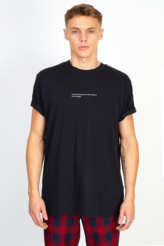 'I'D SAY GO TO HELL' TEE - BLACK