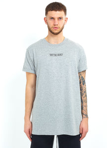 NIGHT ADDICT GREY 'TRUST THE JOURNEY' TEE FRONT