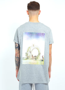NIGHT ADDICT GREY 'TRUST THE JOURNEY' TEE BACK