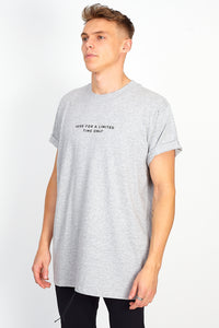 NIGHT ADDICT 'HERE FOR A LIMITED TIME ONLY' TEE - GREY