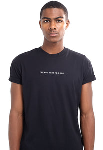 SLOGAN T-SHIRT - BLACK
