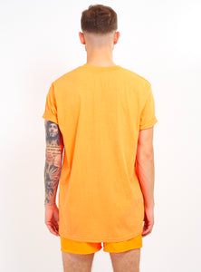 NIGHT ADDICT NEON ORANGE LOGO TEE