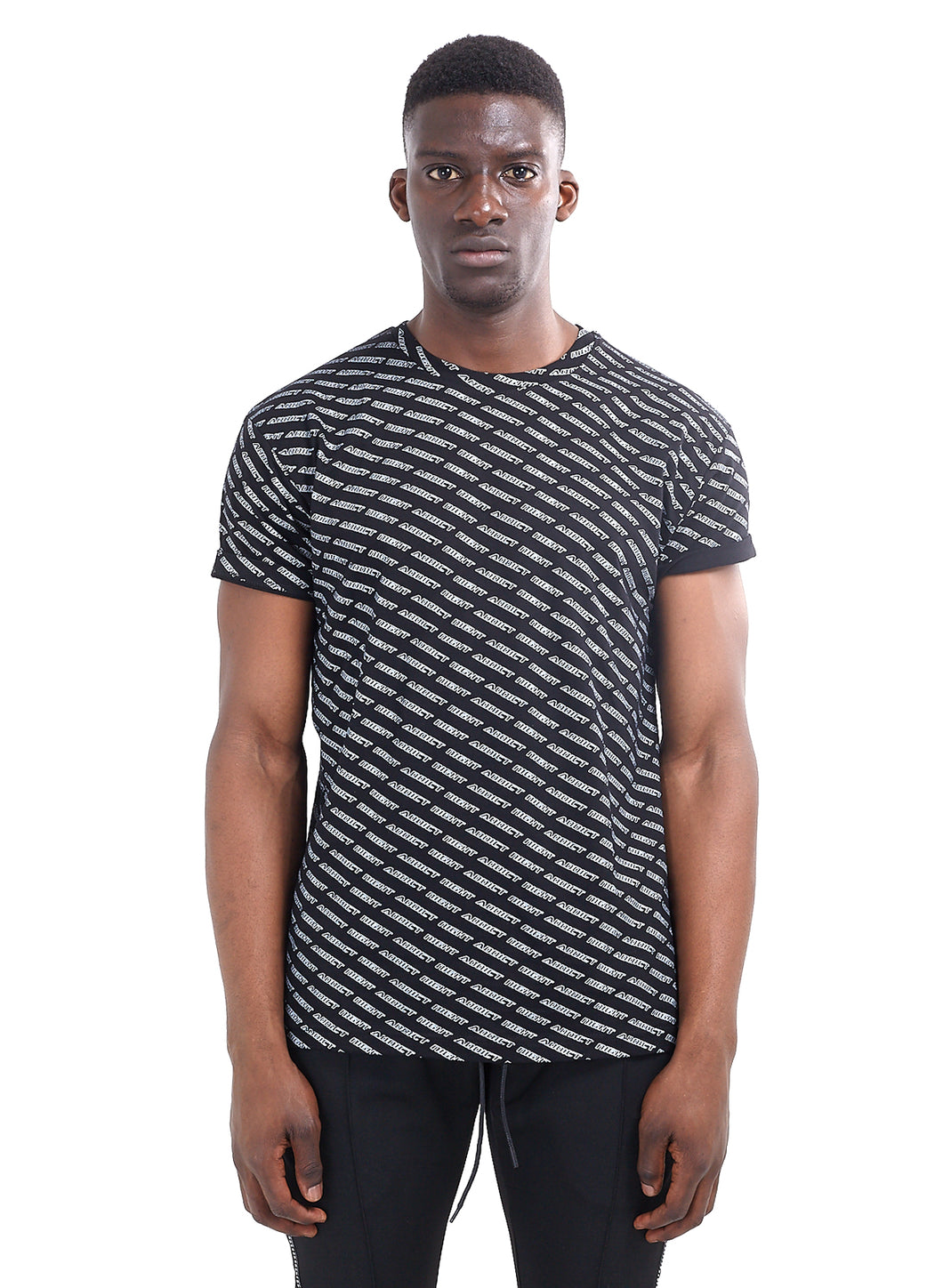 ALL OVER PRINT T-SHIRT - BLACK