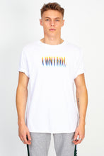 RAINBOW PRINT SLOGAN TEE - WHITE