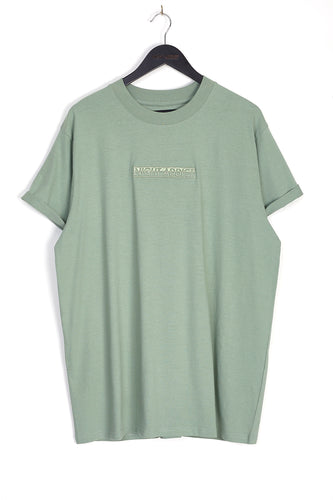 EMBROIDERED LOGO T-SHIRT - KHAKI