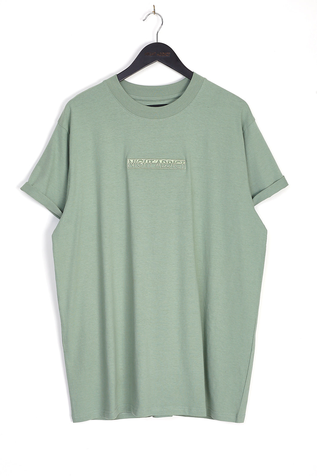 NIGHT ADDICT KHAKI EMBROIDERED LOGO T-SHIRT FRONT