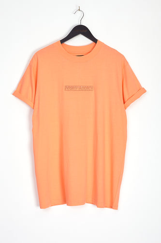 NIGHT ADDICT ORANGE EMBROIDERED LOGO T-SHIRT FRONT