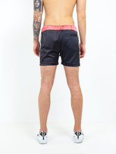 NIGHT ADDICT BLACK SATIN SHORTS BACK