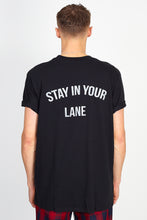 'STAY IN YOUR LANE' BACK PRINT TEE - BLACK