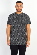 NIGHT ADDICT 'BORN GLOBAL' REFLECTIVE BACK PRINT TEE - BLACK