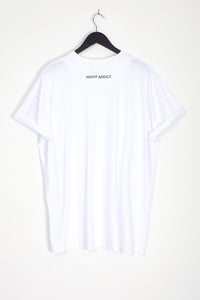 NIGHT ADDICT WHITE LIMITED OVERSIZED T-SHIRT BACK